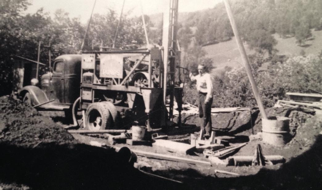 Forage de puits artésiens dans les Laurentides